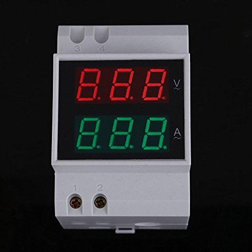 UEB Digital AC80-300V 0-100A LED Dual Display Panel Voltage Amp Meter Red Green