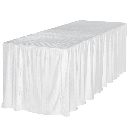 8 Foot Folding Table Cloth White 30x96x29