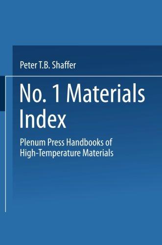 Plenum Press Handbooks of High-Temperature Materials: No. 1 Materials Index