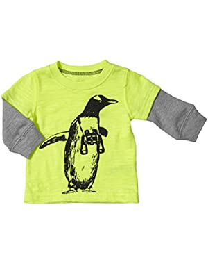 Carter's Baby Boys' Graphic Two Fer (Baby) - Yellow