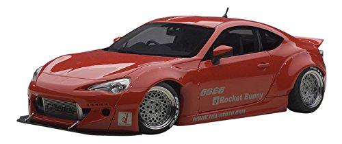 Rocket Bunny Toyota 86, Red/Silver Wheels 1/18 by Autoart 78757 -