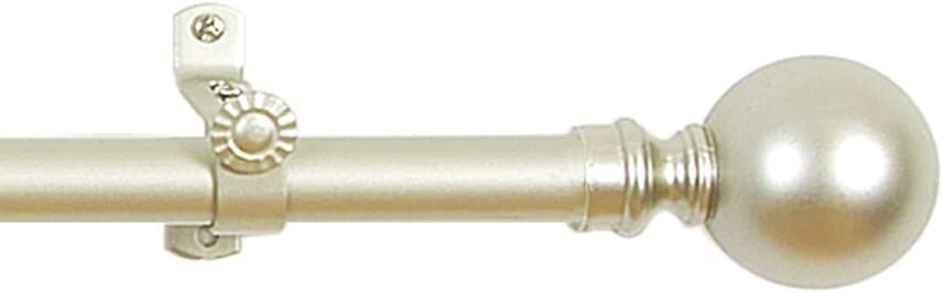 Achim Home Furnishings Buono II Hanover Curtain Rod with Finials, 28-Inch Extends to 48-Inch