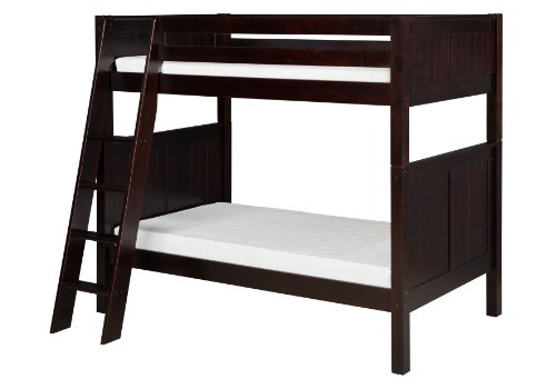 Camaflexi Panel Style Solid Wood Low Bunk Bed