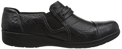 Clarks , Damen Mokassins schwarz Black Scrunch Leather