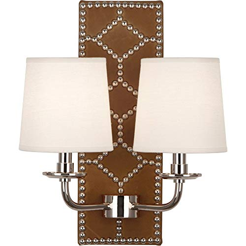 Robert Abbey S1030 Williamsburg Lightfoot - Two Light Wall Sconce, Choose Finish: Polished Nickel