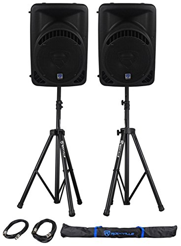 "Rockville RPG10BT 10"" 1200w Powered BlueTooth/USB DJ Speake"