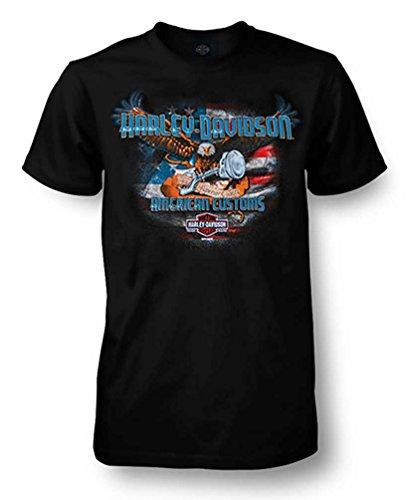 (Harley-Davidson Men's Sovereign Eagle Crew Neck Short Sleeve T-Shirt, Black (L))