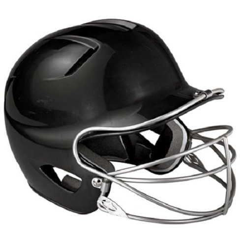Easton Natural Junior Batting Helmet with Mask, Black
