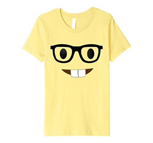 Nerdy Girl Halloween Costume Ideas (Kids Nerd Emoji Face Costume T-Shirt for Halloween Group Nerdy 8 Lemon)