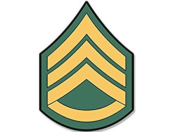 MAGNET US Army Rank STAFF SERGEANT Chevron Shaped Magnet(ssi military) Size: 4 x 4 inch