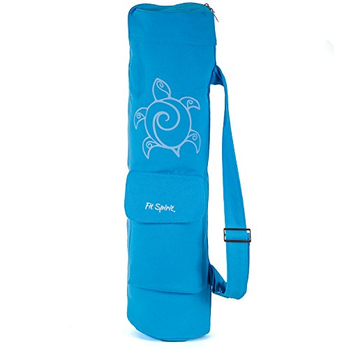 Fit Spirit Exercise Yoga Mat Bag - Blue Turtle