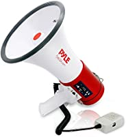 Pyle-Pro Home 50W Professional Megaphone with Built-in Rechargeable Battery and USB/SD Memory Readers, White,