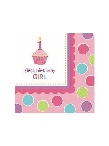 Amscan Sweet Little Cupcake Girl Luncheon Napkins - 36 ct (Little Sweet Cupcake Amscan)