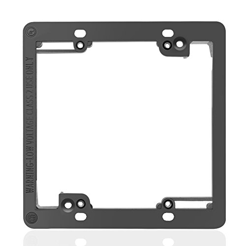 TNP Low Voltage Mounting Bracket, Horizontal/Vertical, Black, 2-Gang Double Gang - Double Wall Bracket