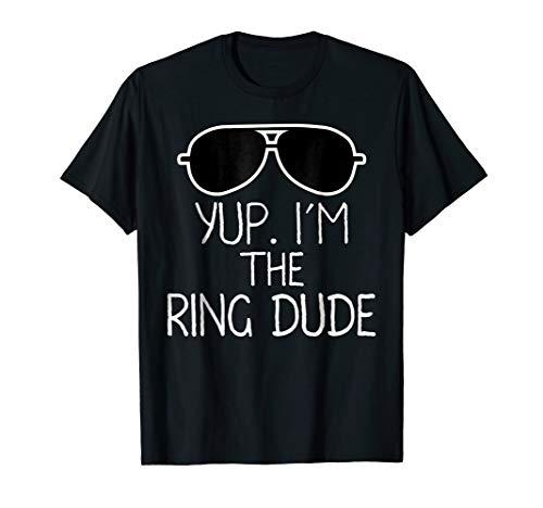 Kids Yup I'm The Ring Dude T-Shirt | Boys Wedding Bearer Tee -