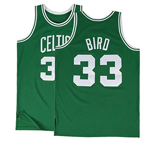 Kids Bird Jerseys 33 Boston Basketball Youth Larry Sizes Green (Kids Medium 10/12)