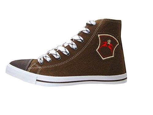 Trendy Fanny Hellbraun Maddox Damen Canvas Sneaker in Braun Brown tqxtwSrvf
