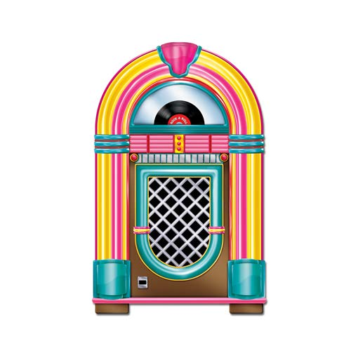 Beistle Jukebox Cutout Party Accessory 3-Feet Tall | Printed on both Sides | (1-Count) -