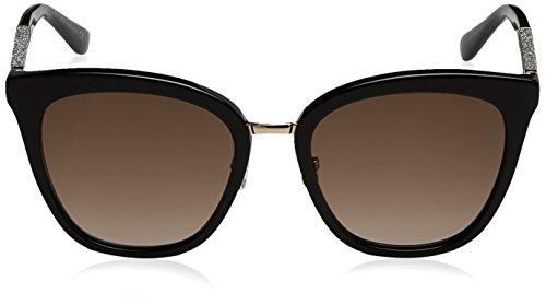 Glitterbk fabry Sf bk s Jimmy Sonnenbrille Choo Noir brown nwCqZpOY