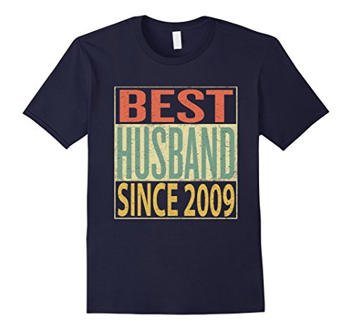 Mens Best Husband Since 2009 Shirt 9th Wedding Anniversary Gift 3XL Navy by Best Husband and Wife Vintage Anniversary Shirts