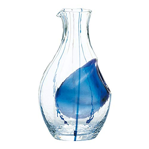 Sum glass cold sake carafe (Blue) 300ml (japan import)