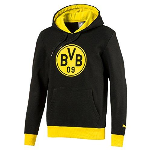 PUMA 2017-2018 Borussia Dortmund Badge Hoodie (Black)