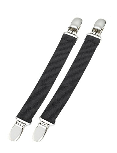 Hold'Em Boot Clips Elastic Leg Straps Pant Stirrups with Extra Heavy Sturdy Clip Made In USA Keeping Pants Smoothly Tucked In Boots Black 6