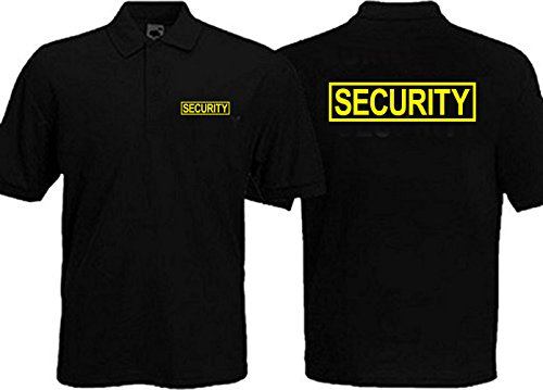Gs-eagle Men's Security Guard Graphic Polo T-Shirt 4Xlarge Black (Security Guard Shirt)