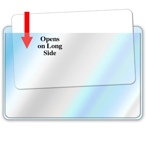 StoreSMART Business Card Pockets - Peel & Stick open on the LONG side - 300 Pack - (ZSTB222L-300) by STORE SMART (Image #2)