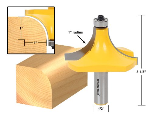 Yonico 13169 1-Inch Radius Round Over Edge Forming Router Bit 1/2-Inch Shank by Yonico