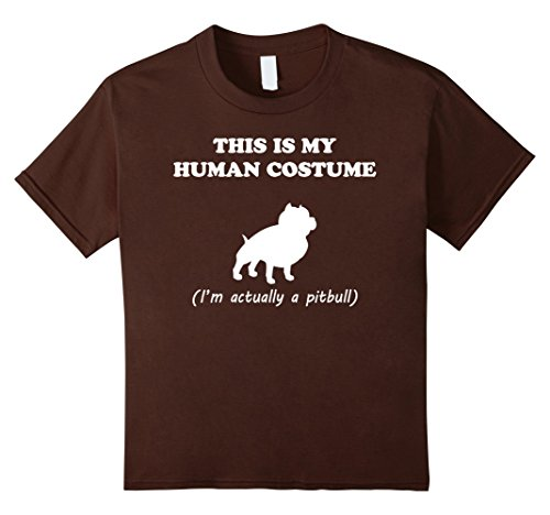 Girl Pit Costume (Kids This is My Human Costume I'm Actually a Pitbull T-Shirt 10)