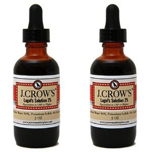 Iode Solution de J.CROW'S® Lugol (2 oz). Twin Pack (2 bot.)