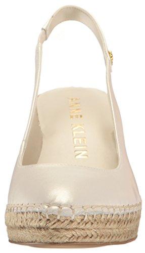 Anne Klein Mujeres Varya Leather Espadrille Wedge Sandal Leather Leather