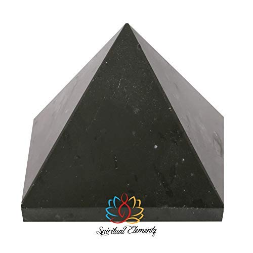(Spiritual Elementz Black Gemstone Pyramid(1'Inch) Stone for Converting Negative Energy into Positive Energy)