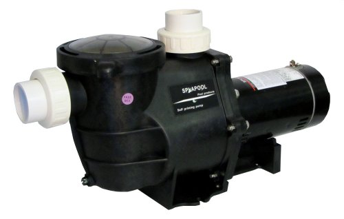 Deluxe Energy Efficient 2 Speed Pump for In-Ground Pool 1.5 HP 230V w/Fittings (Hp Variable Pump Speed Pool 2)