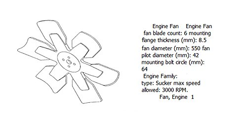 Engine fan 4931803 for diesel engine: