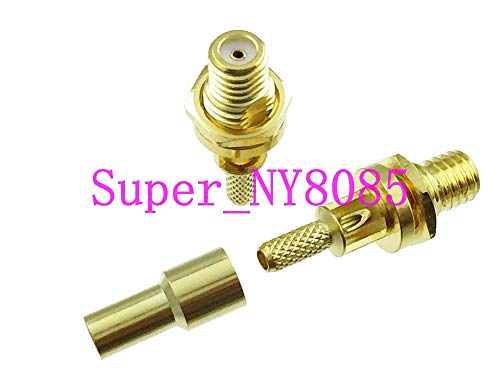 Gimax 1pce L5 Microdot Connector female nut bulkhead 10-32UNF RG174 RG316/188 Ultrasonic Flaw ()