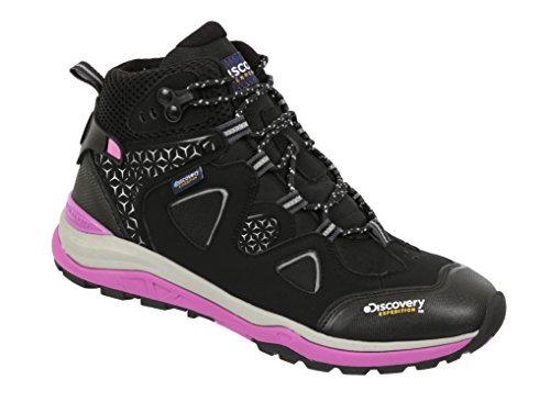 Discovery EXPEDITION Womens Dual Density Mesh Outdoor Backpacking Kora Hiking Boots Black Sky 7.5