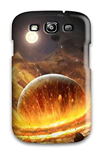Awesome Planet Impact Flip Case With Fashion Design For Galaxy S3