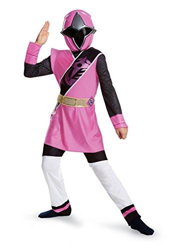 Power Rangers Ninja Steel Deluxe Costume, Pink, Small (4-6X) -