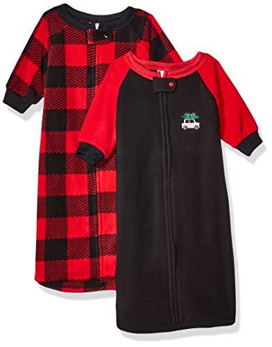 GERBER Baby Boys 2-Pack Sleep Bag, Red/Grey Plaid, 0-6 Months