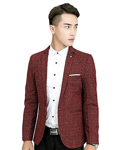 Essentiel Hommes Rouge Loisirs Blazer Party Formel Bouton Costume Sporty Business Sweat 1 Veste Club Design Casual 1w1Wzqrg