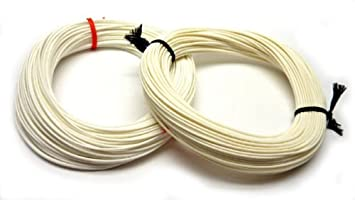 FLY LINE EASY SHOOT Ivory WHITE FLOATING fly fishing line (all ...