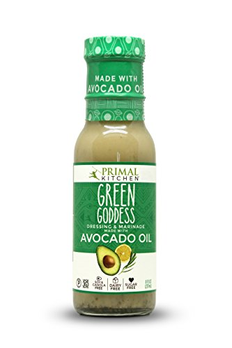 Green Salad Dressing (Primal Kitchen - Avocado Oil-Based Dressing and Marinade, Green Goddess, 8 fl oz, Whole30 and Paleo Approved)