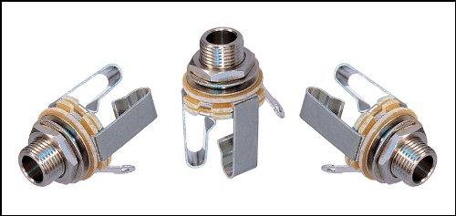 "Price comparison product image 3-pack Neutrik 1 / 4"" Stereo Audio Phone Jacks"