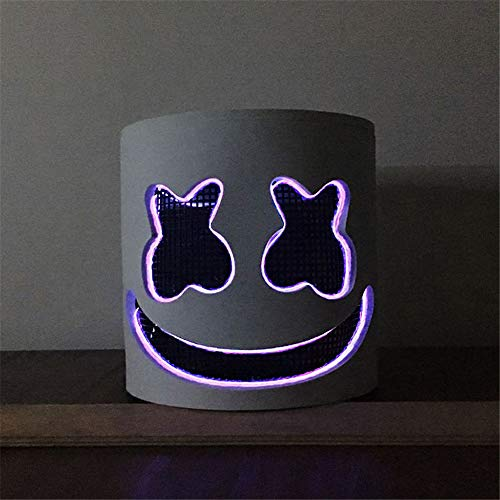 DJ Mask Party LED Mask Marshmello Helmet Cosplay Costume Halloween&Christmas Party Props Bar DJ Mask (4)