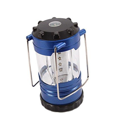 Circular Shape Dangle (Camping Lantern Bivouac Hiking Camping Light 12 LED Lamp Portable with Compass)