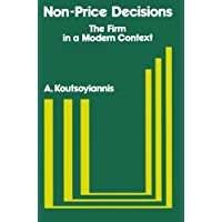 Non-price Decisions: Firm in a Modern Context