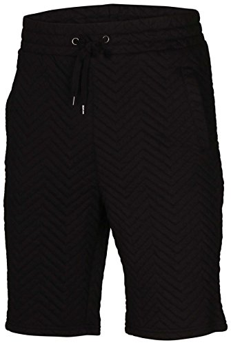 Style Black Short (Iron Co. Men's Casual Lightweight Chevron Style Shorts-Black-Medium)