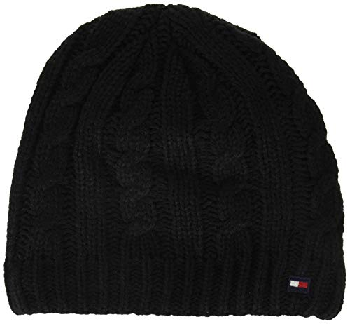 Tommy Hilfiger Men's Cold Weather Knit Beanie, Licorice, One Size